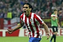 Kanonýr Atlétika Madrid Falcao.