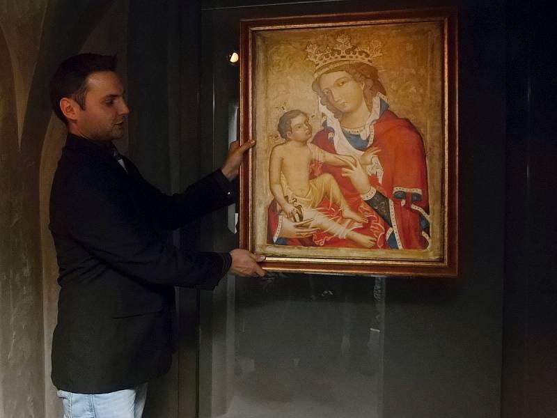 Replika obrazu Madony z Veveří.