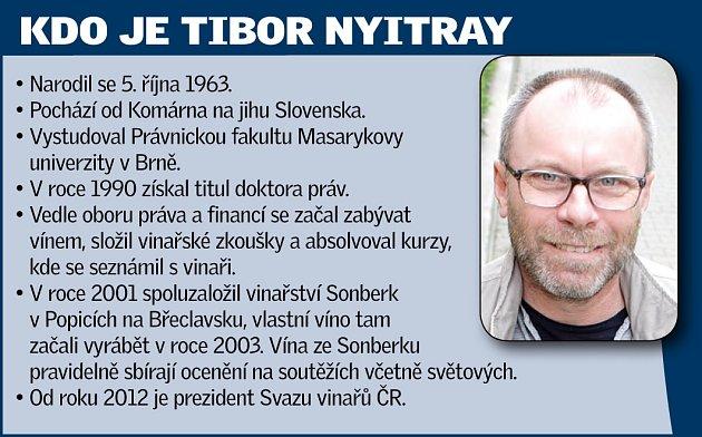 Prezident Svazu vinařů ČR Tibor Nyitray.