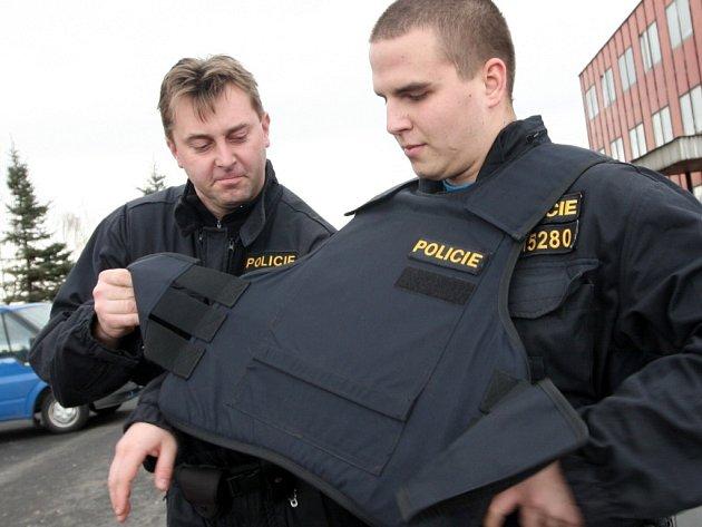 Neprůstřelné vesty policie. Ilustrační foto