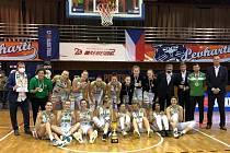 Královopolské basketbalistky získaly v Českém poháru stříbrné medaile.