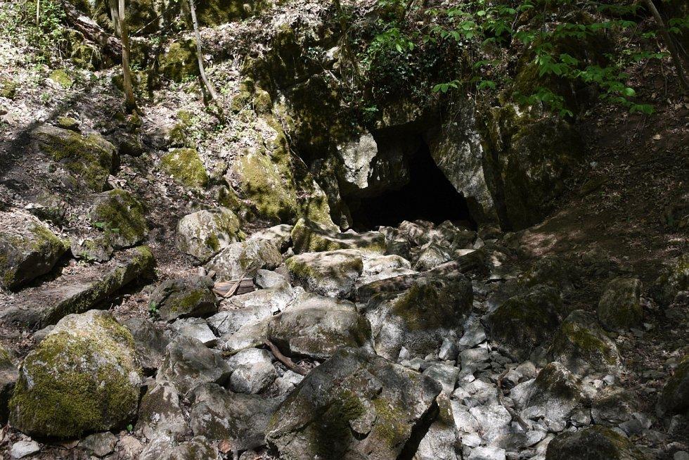 Vývěr Říčky v jižní části Moravského krasu. Za normálního vodního stavu zde vyvěrají vody z krasového podzemí.
