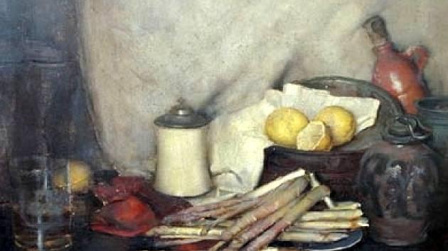 Olejomalba z roku 1923 s názvem Zátiší s chřestem, která měla největší procentualní nárůst ceny
