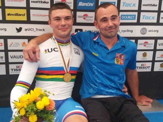 Dráhař brněnské Dukly Šťastný se stal juniorským mistrem světa v keirinu