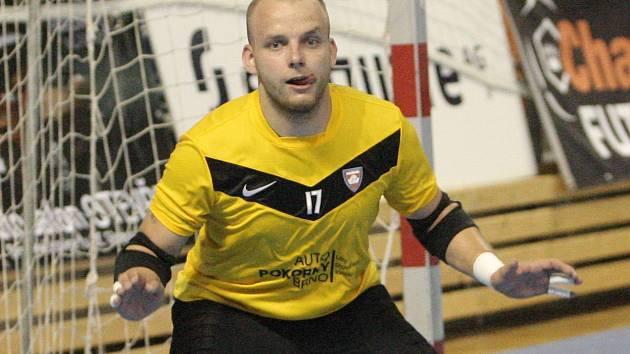 Futsalový brankář Václav Kubíček ještě v dresu brněnského Tanga.