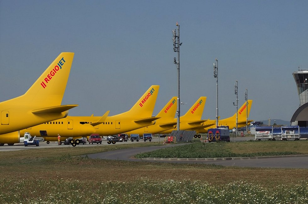 V Brně už přistála první flotila letadel RegioJet.