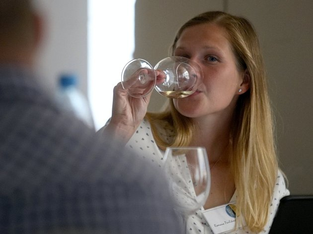 Degustace vín soutěže TOP 77 vín v ČR v brněnském hotelu Slavia.