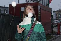 Žonglérka Daniela Paličková.