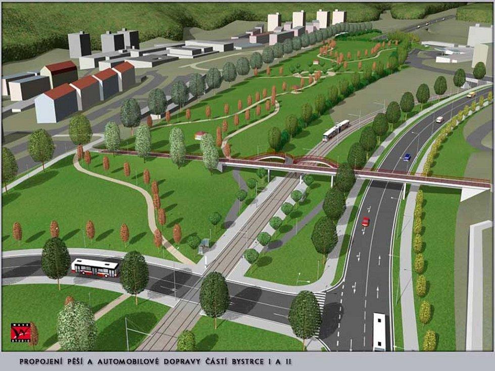 Prezentace - silnice R43 - průtah Bystrcí.