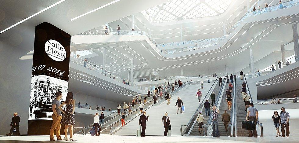 Gare Paris Saint Denis Pleyel (PN 2013-15 Maîtrise d'oeuvre architecturale pour la gare du réseau de transport public du Grand-Paris: Saint-Denis Pleyel / 3rd place).