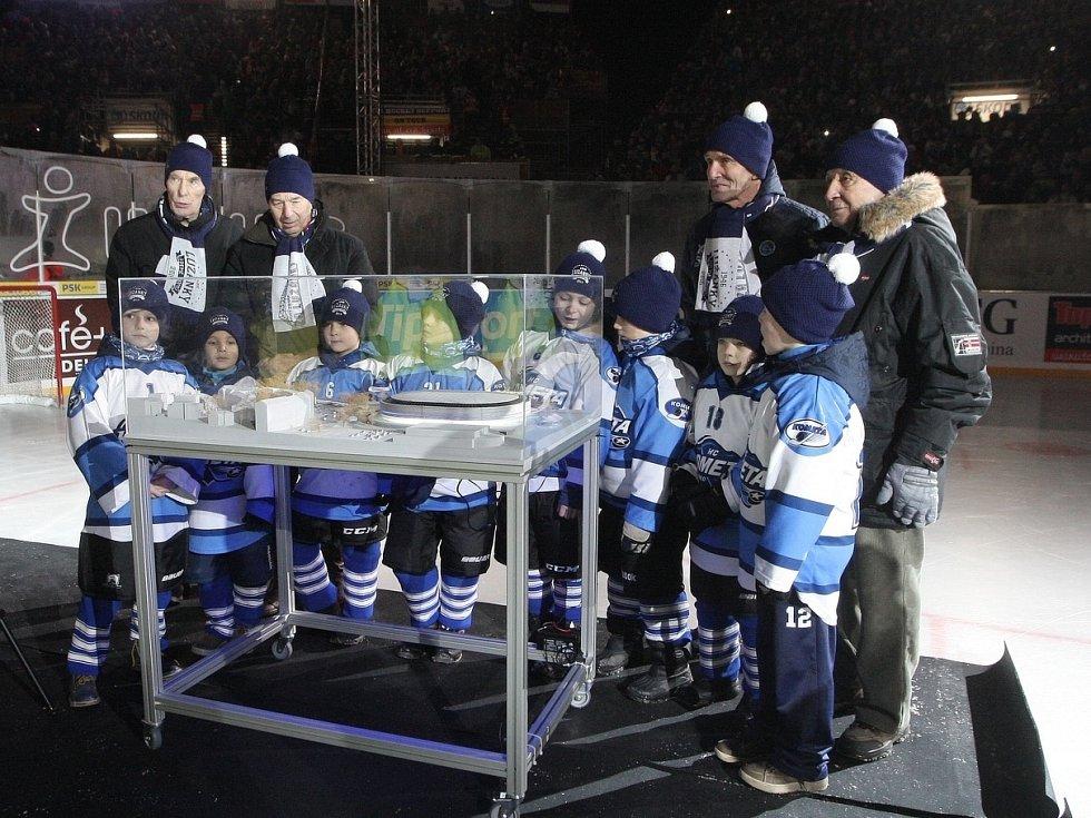 Model původního návrhu nového hokejového stadionu za Lužánkami.
