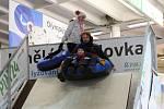Již druhý den si zájemci na Olympijském festivalu mohou vyzkoušet na vlastní kůži zimní hry na Brněnském výstavišti.