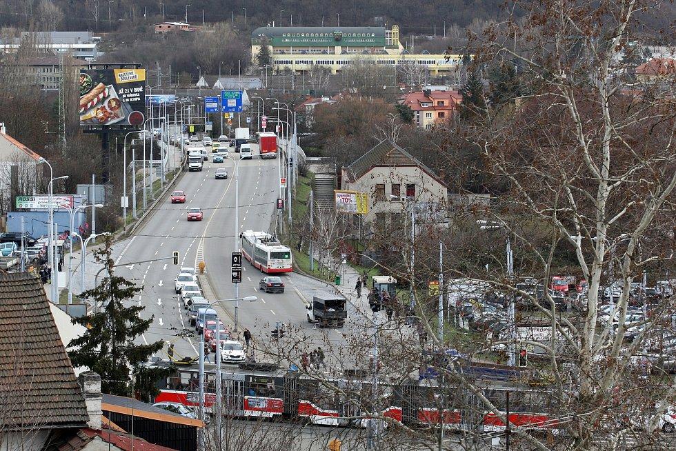 Podoba Tomkova náměstí a okolí z ledna 2019.