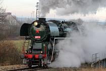 Parní lokomotiva. Ilustrační foto.
