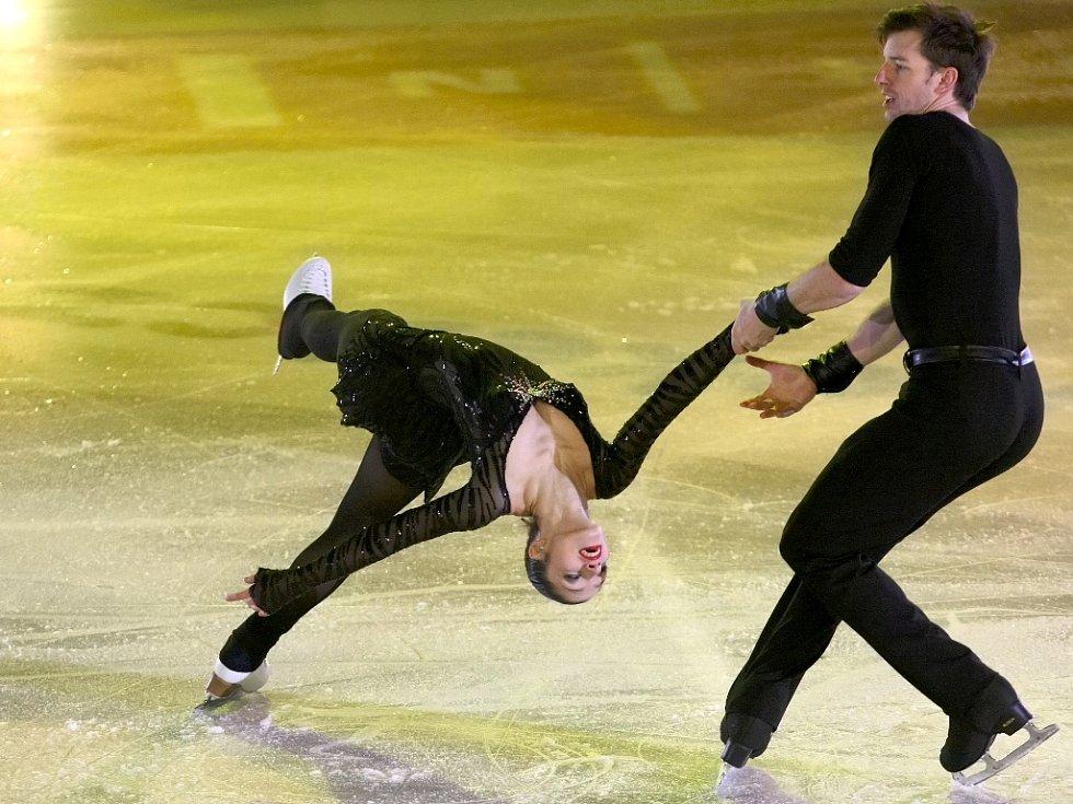 Na grandiózní show olympijského vítěze Jevgenije Pljuščenka zamířily do brněnské Kajot Areny bezmála čtyři tisíce diváků.