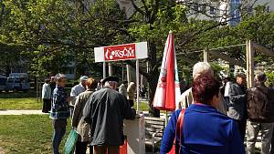 Na prvního máje se v Brně sešli příznivci Komunistické strany Čech a Moravy