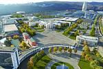 Výsledky urbanistické soutěže na možnou podobu brněnského výstaviště v úterý představil městský architekt. Porotci ocenili nový západní vstup i zprůchodnění areálu. Vizualizace.
