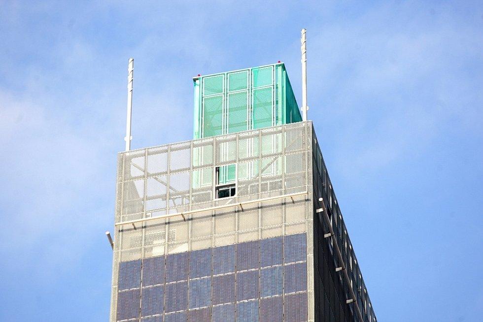 AZ Tower, nejvyšší budova v České republice, před dokončením na podzim roku 2012.
