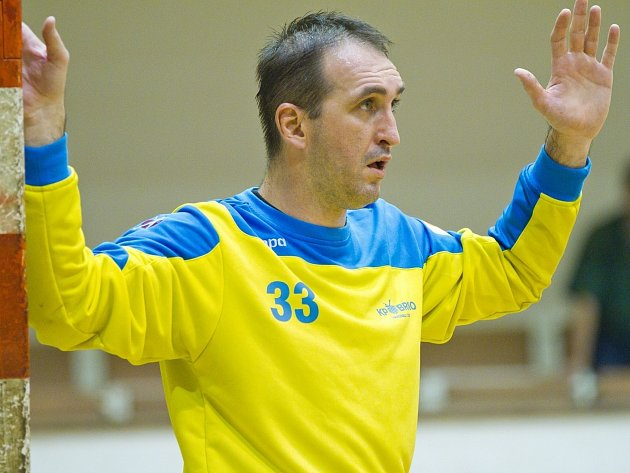 Brankář KP Brno Petr Štolcar.