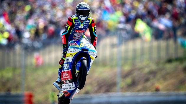 Finálový závod Moto3 Velká cena České republiky, závod mistrovství světa silničních motocyklů v Brně 4. srpna 2019. Na snímku Jakub Kornfeil (CZE).