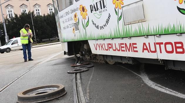 V Brně vykolejila tramvaj