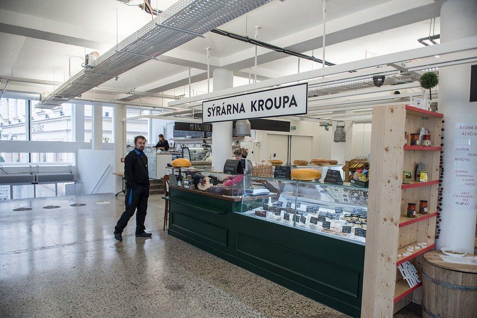 Interiér tržnice na Zelném trhu v Brně. Ilustrační foto.