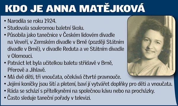 Mladá družička, okouzlující baletka, milovnice zvířat izasloužilá učitelka tance. Anna Matějková zBrna má za sebou pestrou kariéru izážitky.