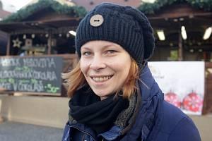 Dana Langerová má na starosti stánek na Dominikánském náměstí.