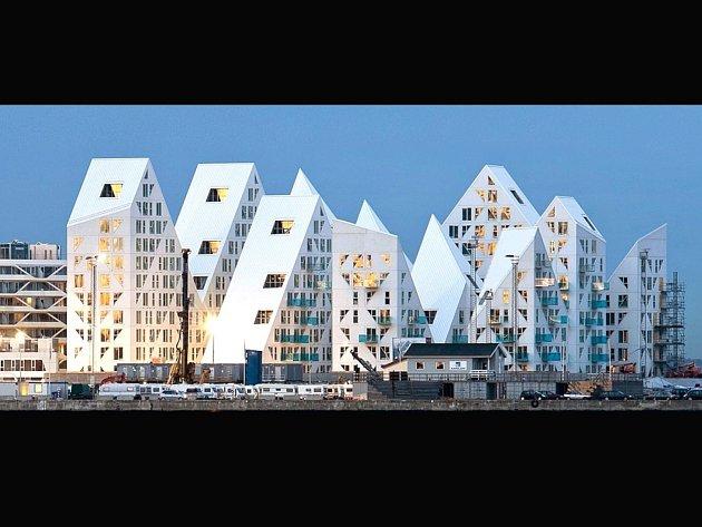 Rozsáhlý obytný komplex Ledovec v dánském Aarhusu.