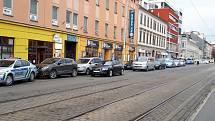 Pohled na Lidickou ulici v Brně.