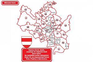Pohled na brněnské městské části a čtvrtě.