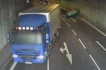 Husovický tunel byl zavřený kvůli nehodě.