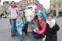 Lední medvěd upozorňoval v Brně na špatnou situaci na Arktidě.