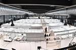Záložní nemocnice pro koronavirové pacienty na brněnském výstavišti.