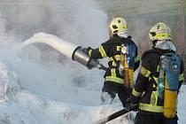Zásah kunšátských hasičů.