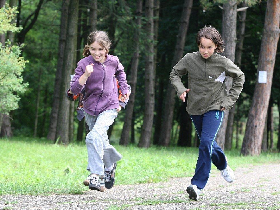 Sportovní den školáků v brněnských Židenicích.