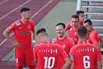 28. kolo F:NL: FC Slavoj Vyšehrad (modrá) - FC Zbrojovka Brno (červená)