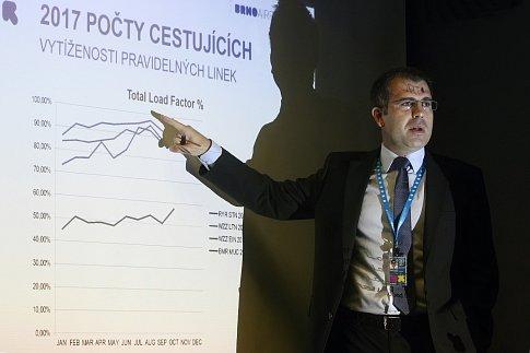 Tisková konference na brněnském letišti. Na snímku Radek Lang.