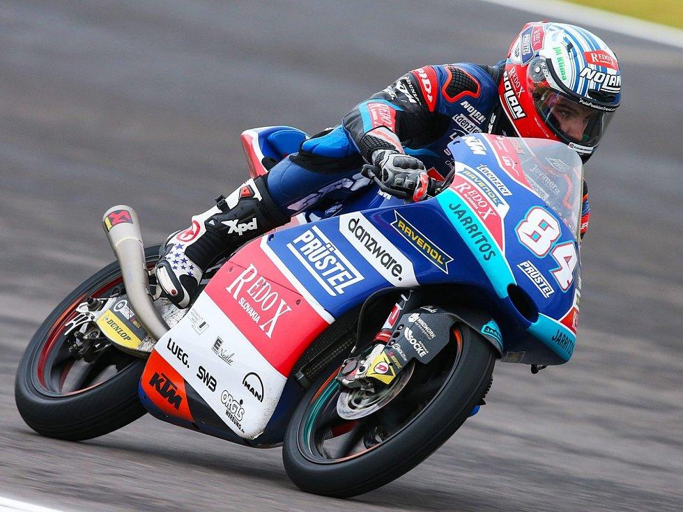 Motocyklový jezdec Jakub Kornfeil.