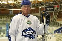 Hokejista Petr Ton ještě v dresu Komety Brno.