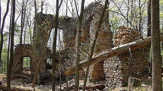 Zřícenina hradu Blansek.