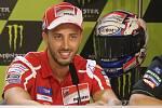 Tisková konference s jezdci Moto GP - Andrea Dovizioso.