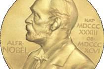 Nobelova cena: přední strana medaile.