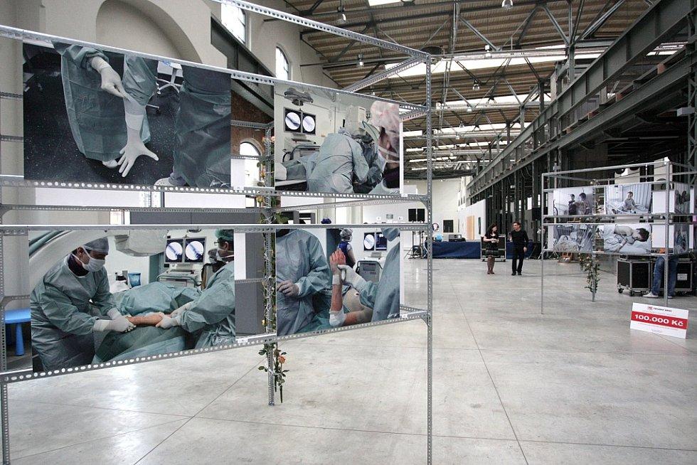 Fotografie pacientů brněnské dětské nemocnice od Roberta Vlka si mohli zakoupit zájemci ve Wannieck gallery. Uskutečnil se tam první ročník charitativní výstavy.