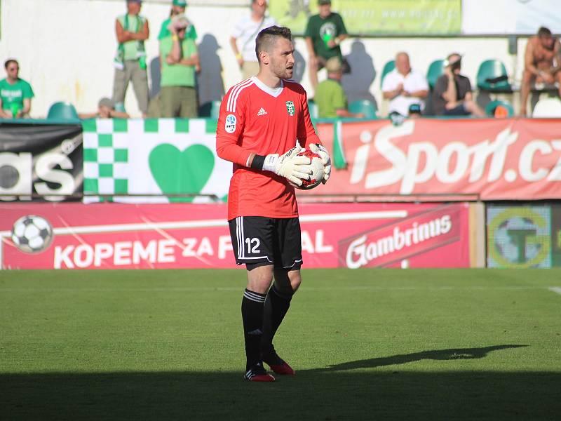 Martin Berkovec, brankářská opora Karviné. - foto Michal Chadim