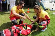 Na Dni s integrovaným záchranným systémem předvedli záchranáři své nacvičené ukázky zásahů.