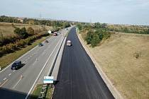 Pokračují opravy dálnice D52 mezi 9. a 23. kilometrem ve směru na Brno. Foto: se souhlasem Ředitelství silnic a dálnic