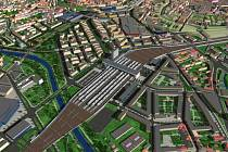 Vizualizace brněnského hlavního vlakového nádraží. Ilustrační foto.