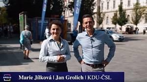 Předvolební video Marie Jílkové s hejtmanem Grolichem.