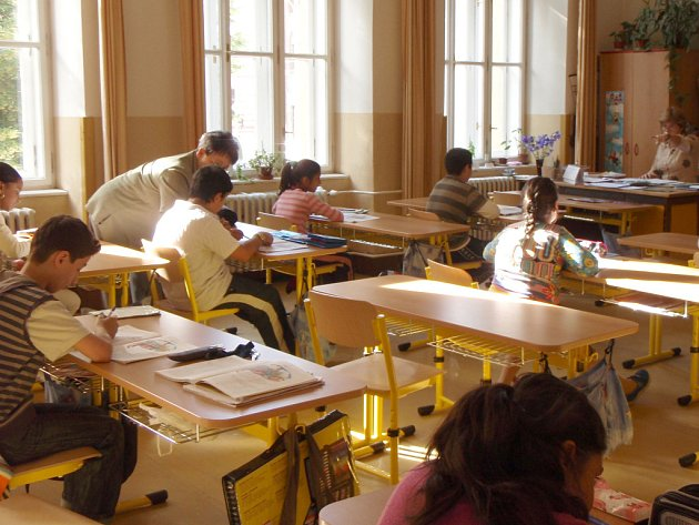 Výuka v Základní škole v Křenové ulici.